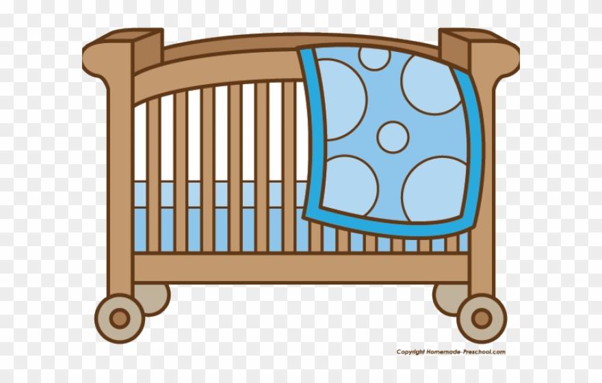 Baby Girl Clipart Crib.