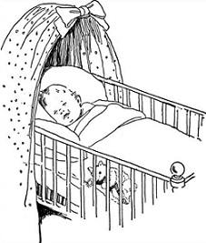 Free Baby Crib Clipart.