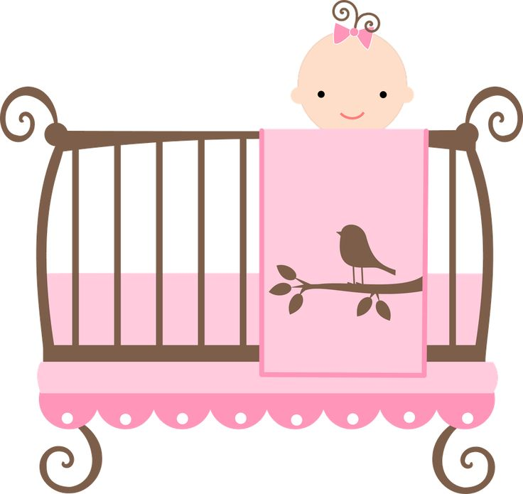 Baby In Crib Clipart.