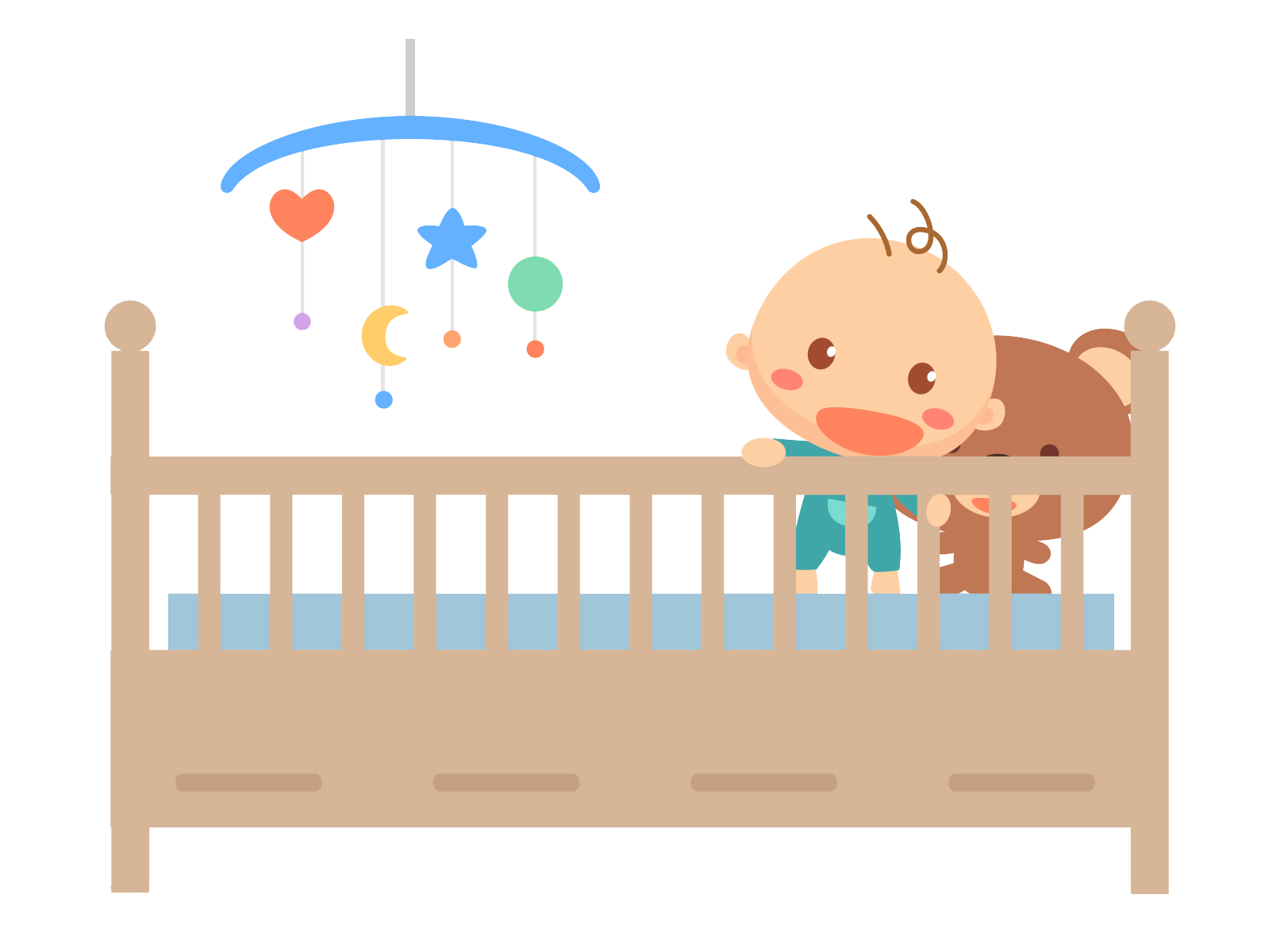 Crib clipart baby bed, Crib baby bed Transparent FREE for.