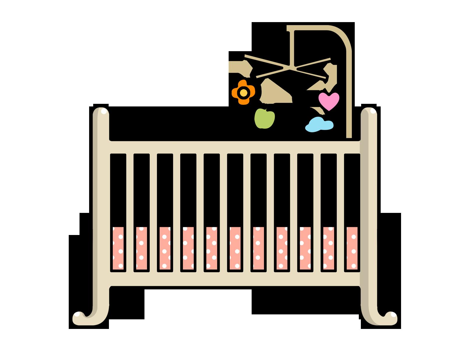 Crib clipart baby bassinet, Crib baby bassinet Transparent.