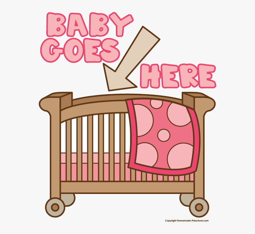 Pink Clipart Baby Crib.