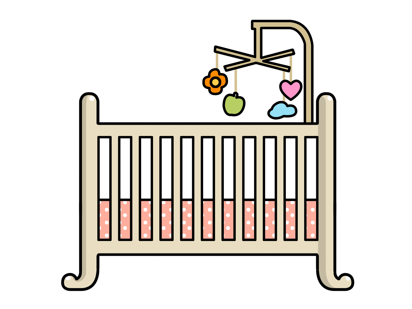 Baby cribs clipart 2 » Clipart Station.
