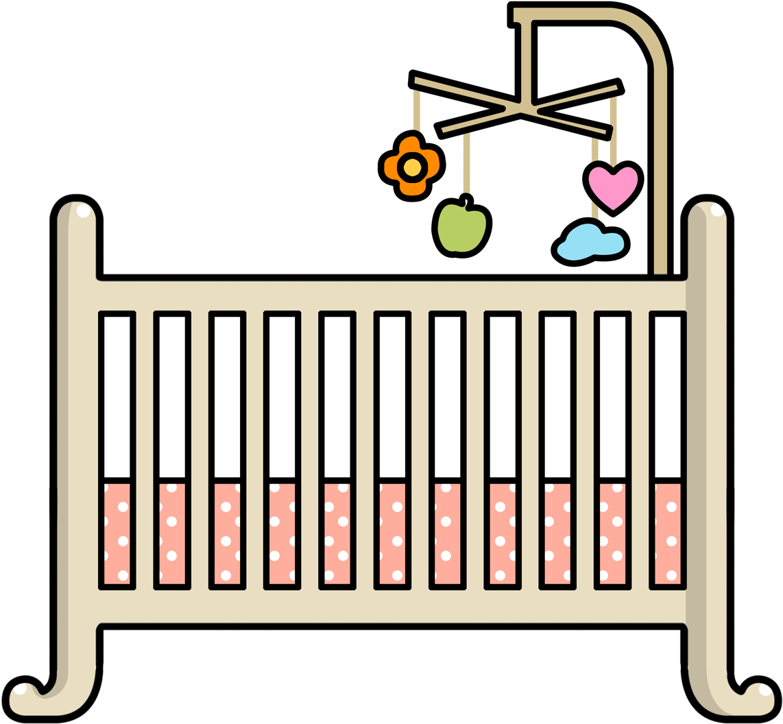 HD Baby Cribs Clipart.