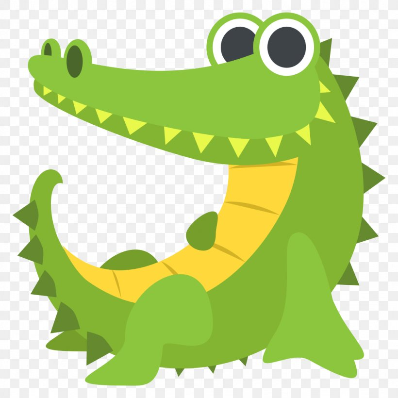 Crocodiles Alligator Nile Crocodile Emoji, PNG, 1024x1024px.