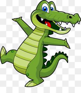 Crocodile Cartoon PNG.