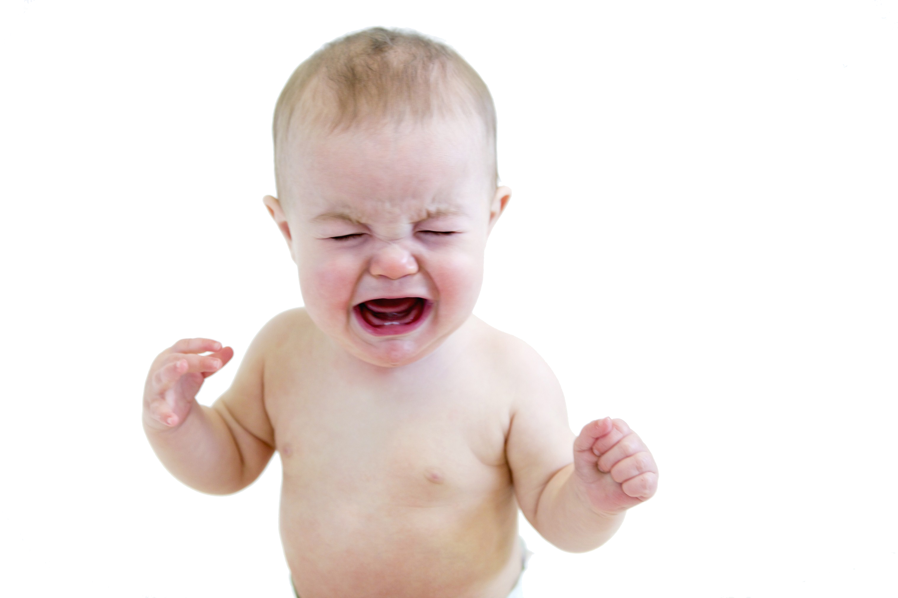 Baby Crying Free PNG Image.