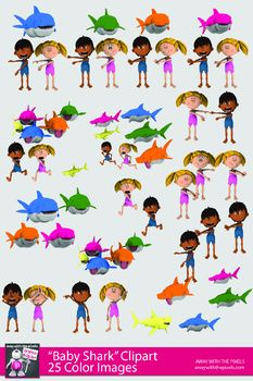 Baby Shark Dance Clipart for Teachers.