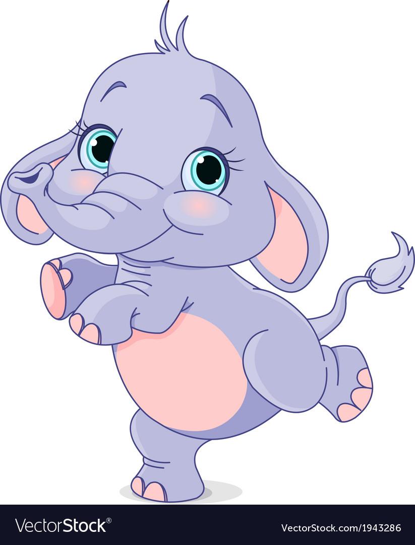 Dancing baby elephant.