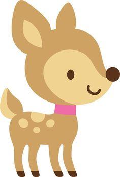 Free baby deer clipart.