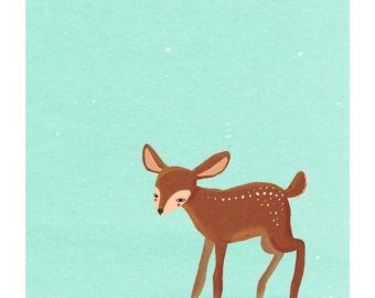 Cute Baby Deer Clipart.
