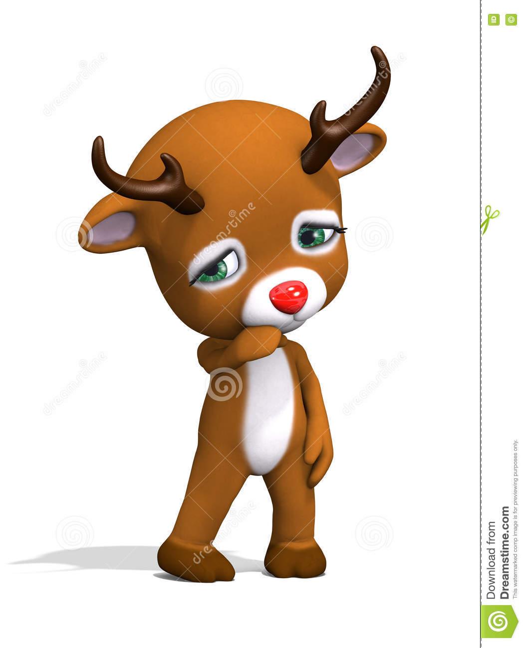 Sad Reindeer Clipart.