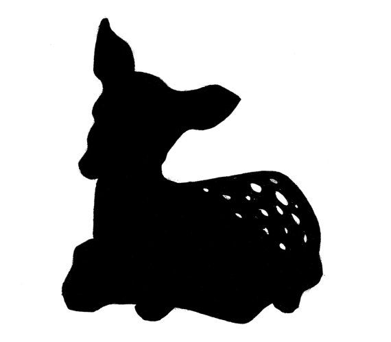 Black Fawn Silhouette.