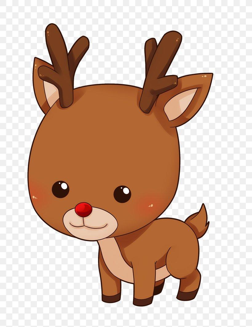 Rudolph Reindeer Santa Claus Cuteness Clip Art, PNG.
