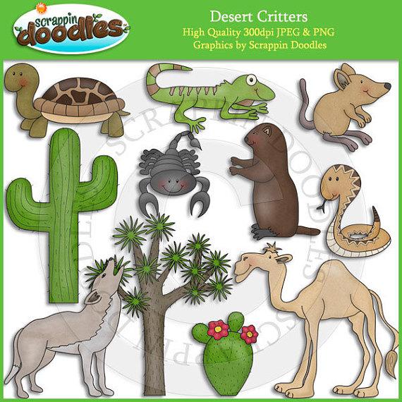 Desert Critters Clip Art.