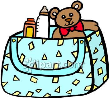 Baby Diaper Bag Clipart.