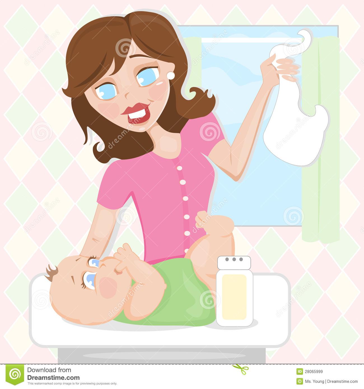 Diaper Change Stock Illustrations.
