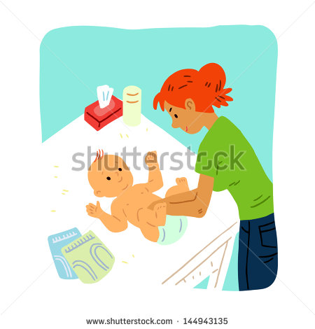 Baby Diaper Change Stock Vectors, Images & Vector Art.