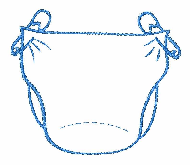 Baby Diaper Clip Art.
