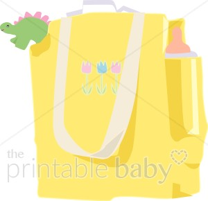 Baby Diaper Bag Clipart.