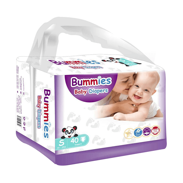 Bummies Premium Baby Diapers, Size Large (8.