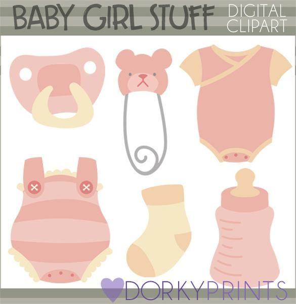 Girl Babies Clipart.