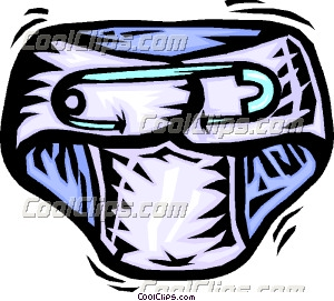 Diaper Safety Pin Clipart.
