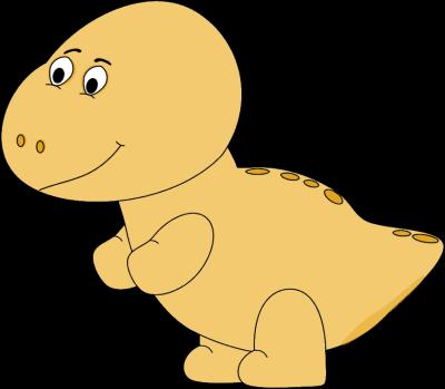 Yellow Baby Dinosaur Clip Art.