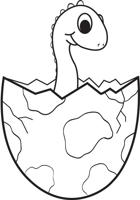 baby dinosaur clipart black and white clipground
