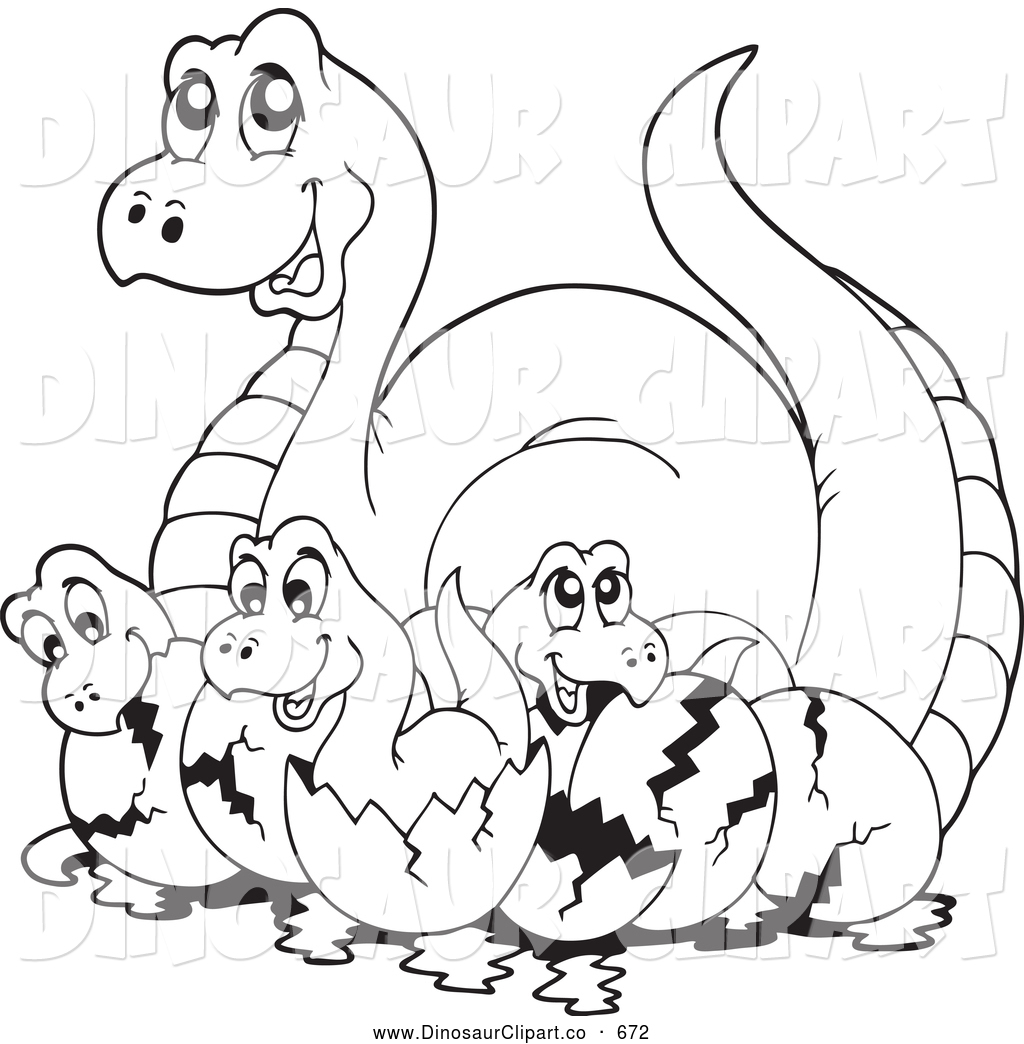 Baby Dinosaur Clipart Black And White.