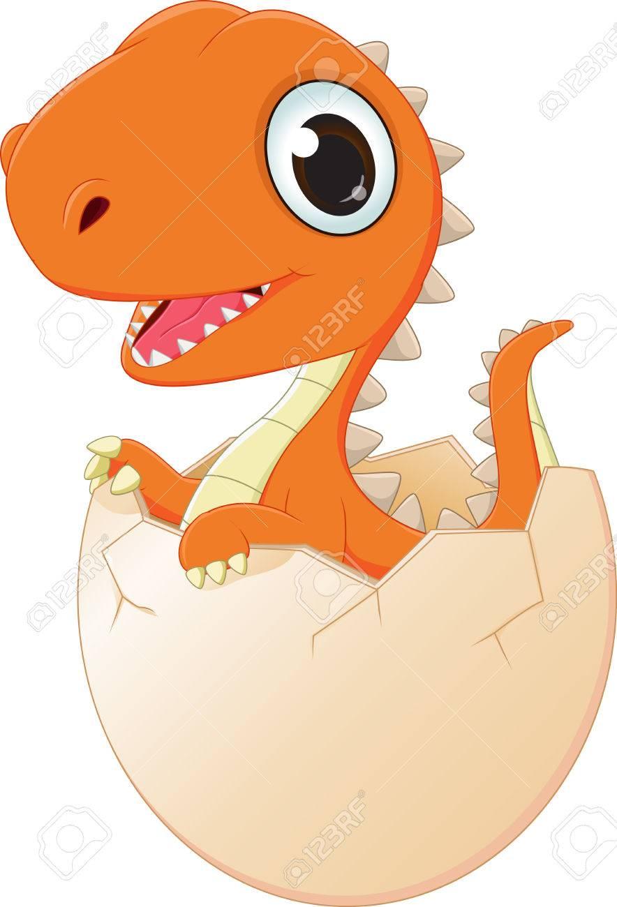 Baby Dinosaur Hatching Clipart.