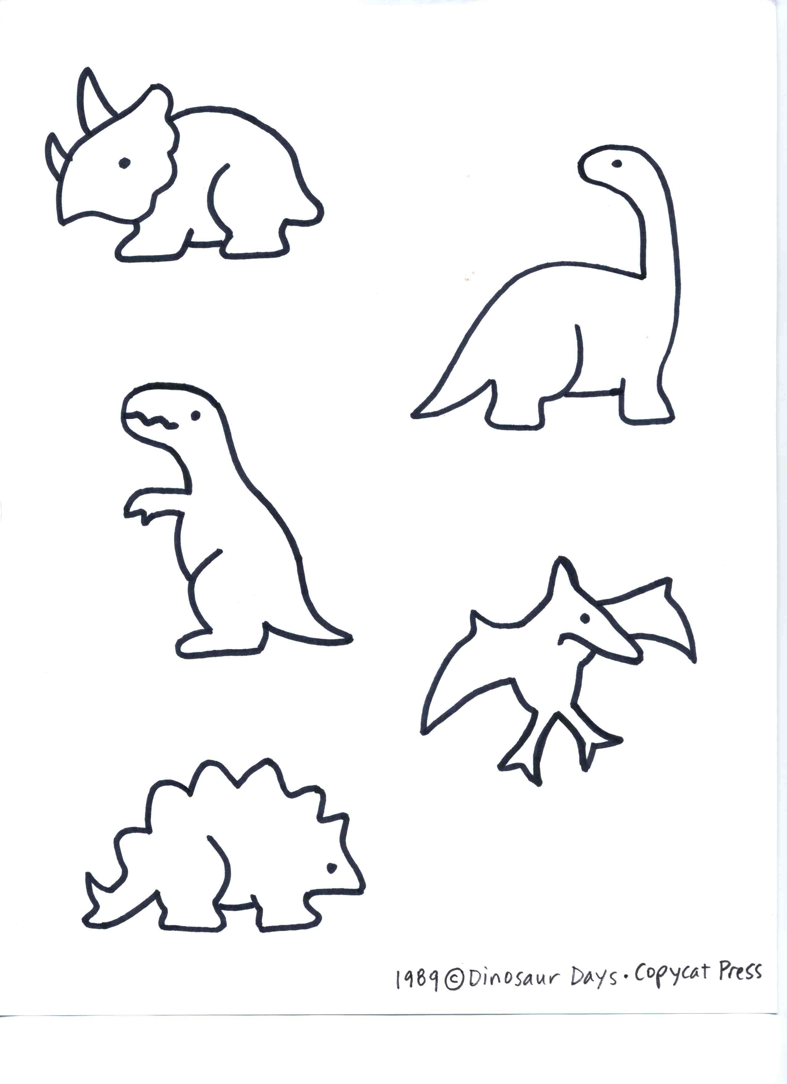 Dino patterns for preschool.