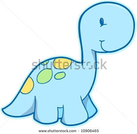Cute Baby Dinosaurs Clipart.