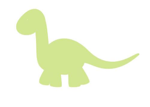 Baby Dino silhouette.