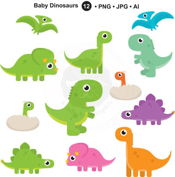 Baby Dinosaurs Clipart,dinosaurs,cute dino,baby dinosaurs.