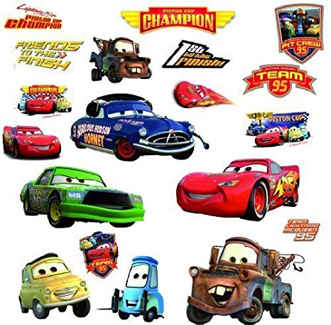 RoomMates Disney Cars Piston Cup Champs Wall Stickers.