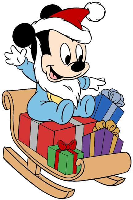 Mickey Mouse Christmas Clip Art 2.