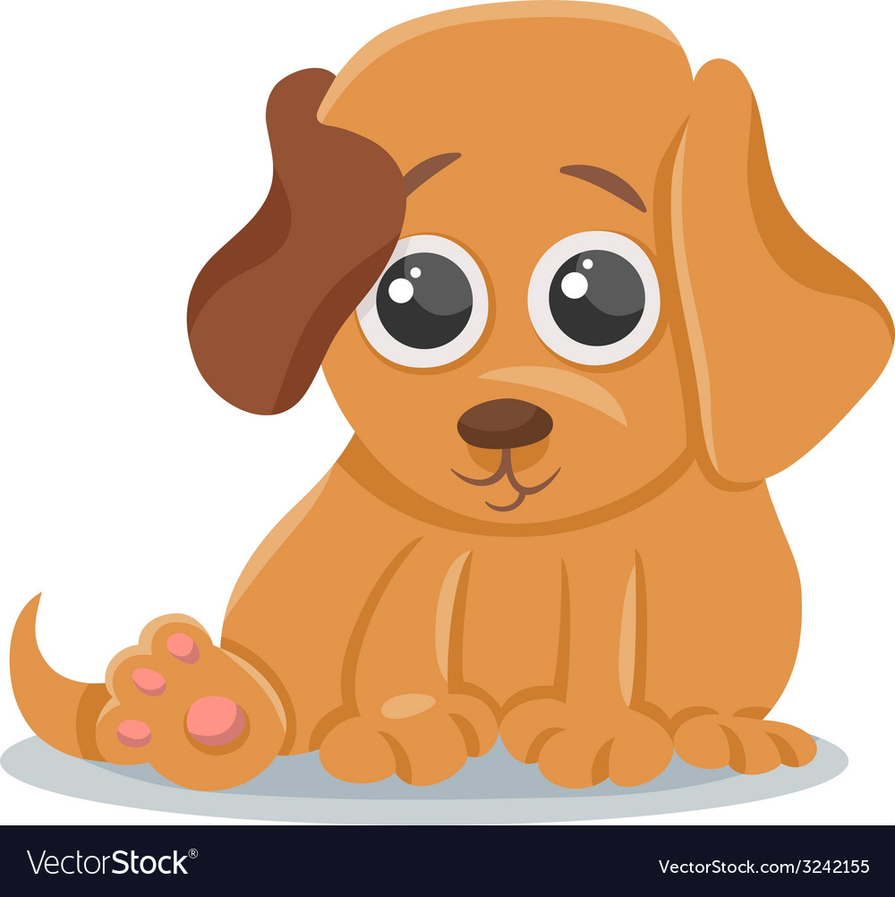 Baby dog puppy cartoon.