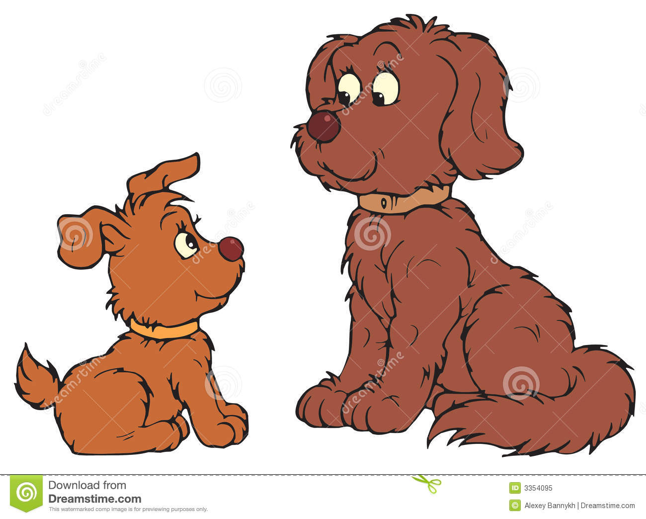 Mother And Baby Dog Clipart.