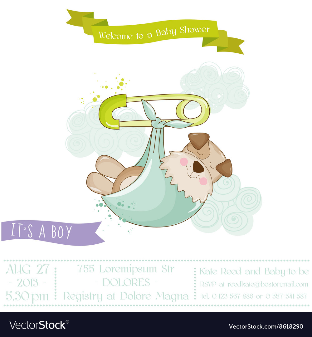 Baby Shower or Arrival Card.