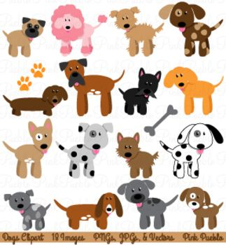 Dogs Clipart and Vectors.