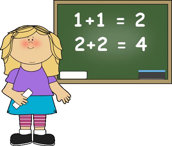 Math Girl Clipart.