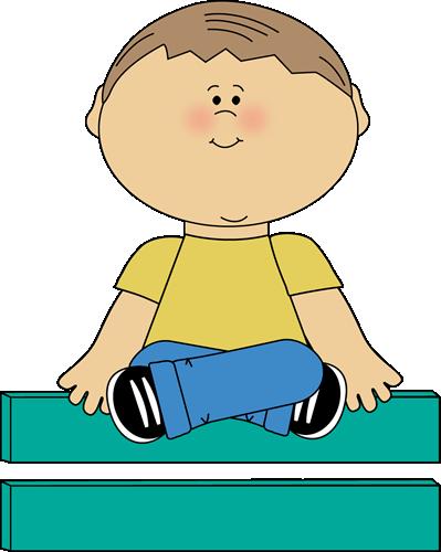 Kid Sitting on Math Equals Sign.