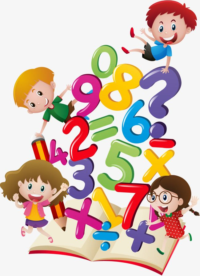 Vector Hand Drawn Cartoon Numbers, Vector, Hand Painted.