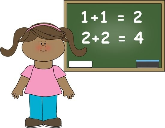 Child Doing Math Clipart.