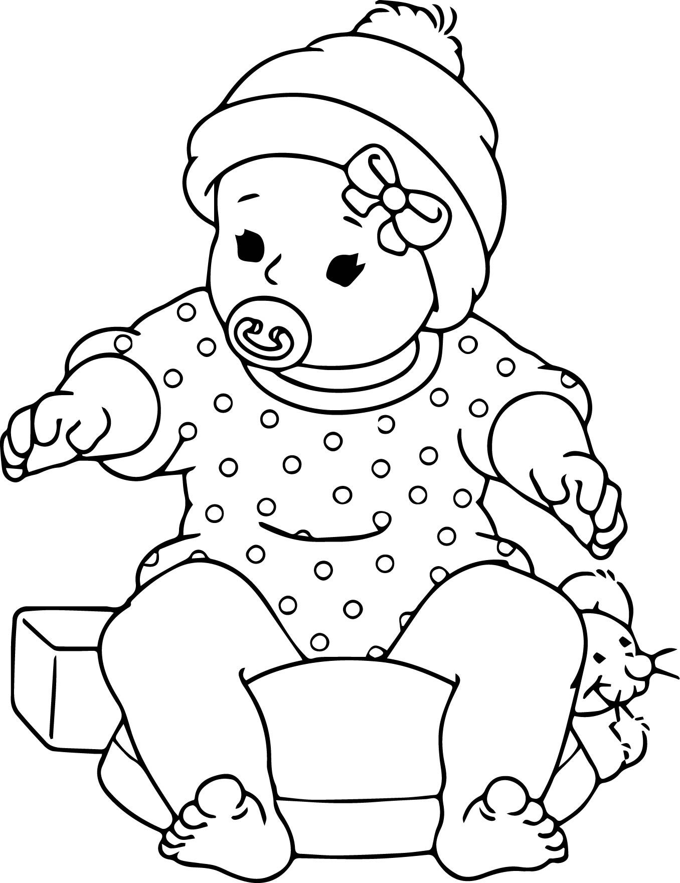 Free Printable Baby Doll Coloring Pages Throughout Inside.