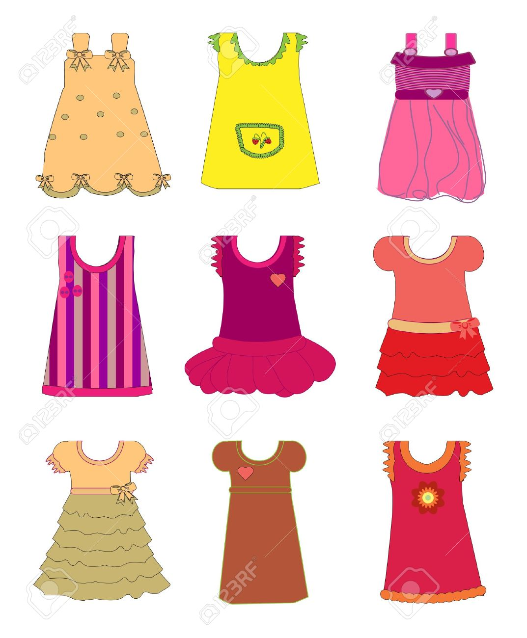 Baby Doll Dress Clipart.