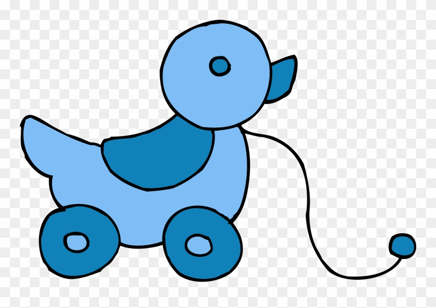 Blue Clipart Baby Toy.