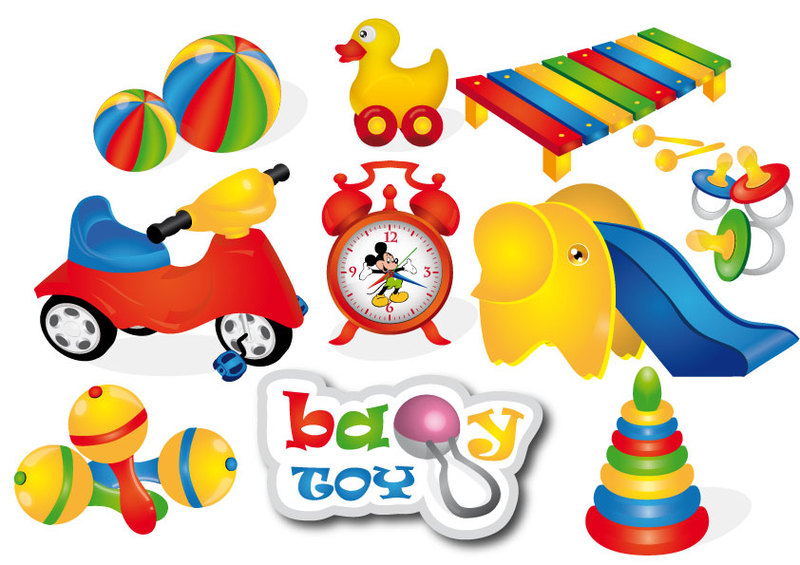 Baby Toy Clipart Graphic.
