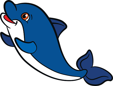 Cute Baby Dolphin Clipart.